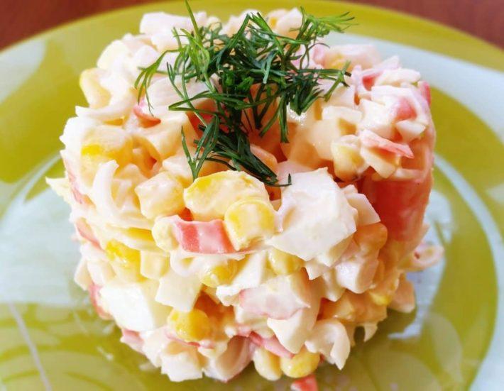 классический салат из крабовых палочек рецепт с фото очень вкусный