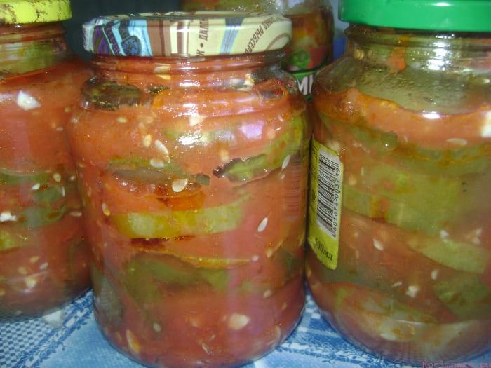 Огурцы в томатном рассоле